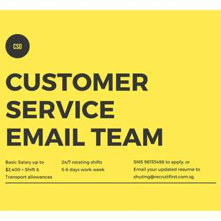 Customer Service Officer (Email Only) || 3-6 months contract ||