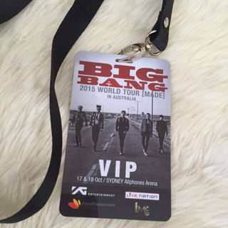 Free Big Bang lanyard