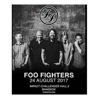 Two Standing B tickets for Foo Fighters in Bangkok