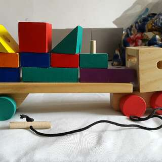 Wooden Puzzle Truck