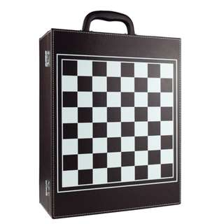 Wine Leather Box Twin (Chess Set)