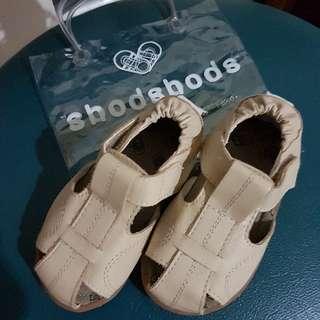 shooshoos 真皮手工涼鞋/童鞋_米色涼鞋