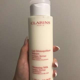 Clarins Cleansing Milk (Get two other items FREE)