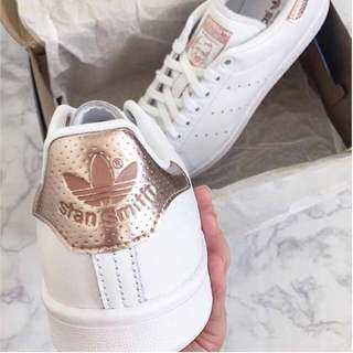 Rose Gold Stan Smith Adidas Sneakers