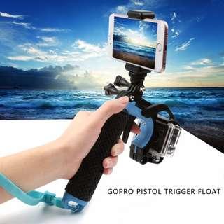 SHOOT Floating Hand Grip Bobber Handle Pole Monopod Pistol Trigger Set Mount for GoPro Hero 6 5 4 3+ 3 2 1 Silver Black Session SJCAM SJ4000 SJ5000 Xiaomi Xiaoyi Yi 4K HD Action Camera