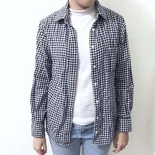 Uniqlo 黑白格紋襯衫