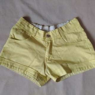 Yellow-Green Summer Shorts