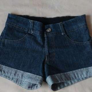 Dark Soft Denim Shorts