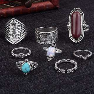 PIECES OF 8 JEWELS COLLECTION FOR SALE TIMELESS CLASSIC PARANAKAN ANCIENT TRADITION RINGS FINGER RING GIFT SET COMES IN SILVER