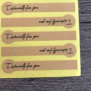 """Mail Included - 80 """"Especially for You"""" sticker  - 4 Sheets"""