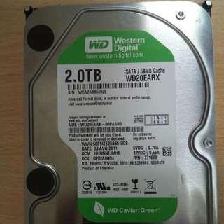 全新 2TB Sata 硬碟 3.5 吋
