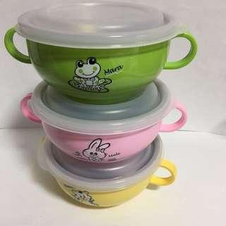 Zebra Stainless steel kids rice serving bowl