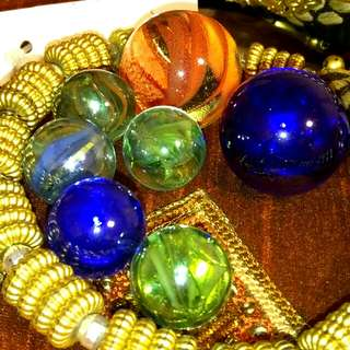 7 Designed Colourful Marbles