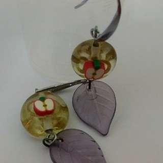 Apple With Leaves Earrings