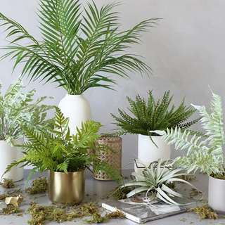 💐YourStalkMarket - Artificial Fake Green Plant Potted Plant Home Decorations