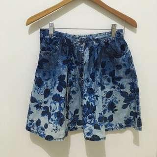 Denim Flower Skirt