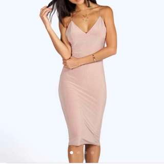 Boohoo Bodycon Midi Dress