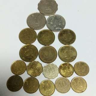 19 Pcs Hongkong Coins