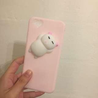 instock;squishy pink cat phone case