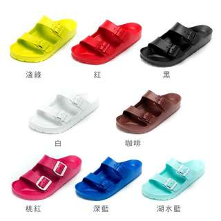 【美國 AIRWALK】雙扣環室內外AB拖鞋(共9色)