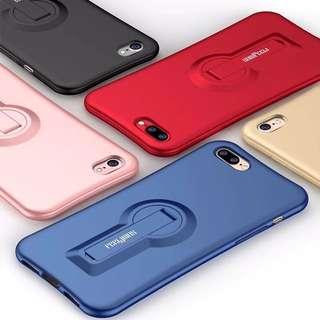 $250~299 iPhone 6,7 & 6,7plus 磨砂旋轉支架軟膠手機殼保護殼