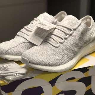 Adidas Pureboost Pure boost all white US 10