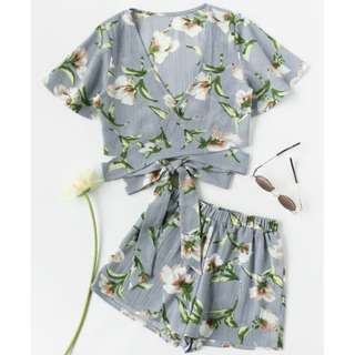 INSTOCK Two-Piece Floral Outfit
