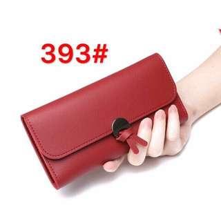 Sinple leather wallet ribbon