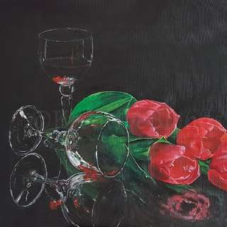 Original Artwork - Acrylic Painting On Canvas Pad