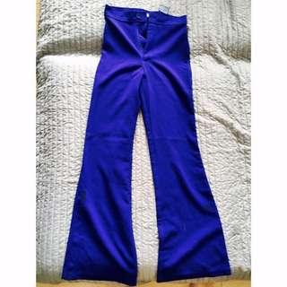 Royal Blue Wide Leg Pants