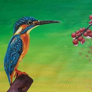 Original Acrylic Painting On Canvas Pad