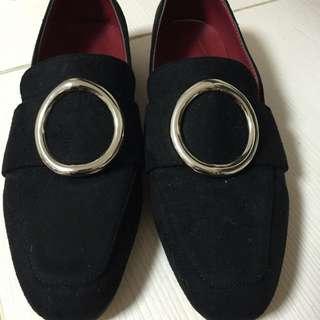 復古簡約韓版圓環鞋