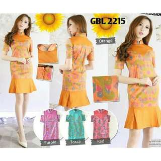 Dress Batik All Size S-L