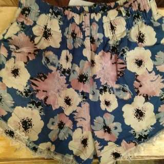 Sexy flower Denim short