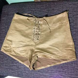 H&M High Waisted Brown Shorts