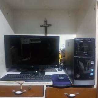 HP Pavilion 7000 Series Desktop - HP 2311F Monitor - Logitech Wireless Keyboard And Mouse