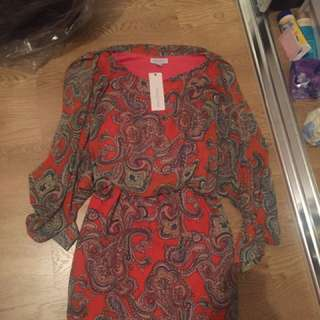 Boho Dress New With Tags Size 12 M Medium