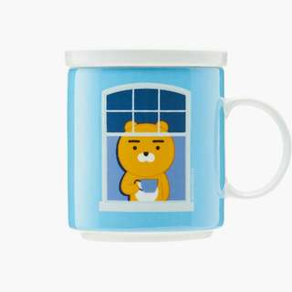 KAKAO FRIENDS Official Goods : Character Tea House Lid Mug Cup Ryan