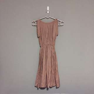 Modparade Peach Pleat Dress