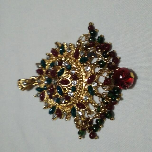 21k Gold Plated India Pendant