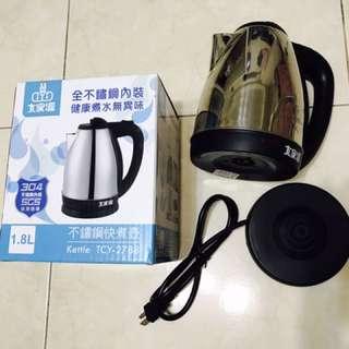 「九成新」大家源 1.8L 304全不鏽鋼快煮壺/電水壺TCY-2788