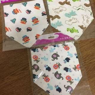 三角圍巾 口水巾 三條/120
