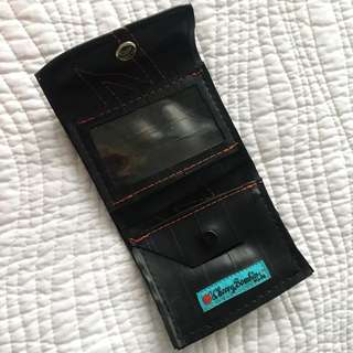 Cherry Bombin – recycled bike inner tube wallet