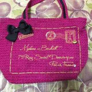 ans Pink Tweed Bag 粉紅袋