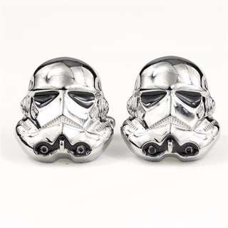 Star Wars Storm Trooper Silver Cufflinks