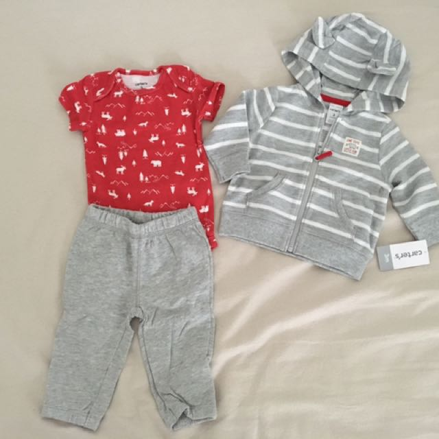 3 Pieces Set Of Carters - Baby Boy Clothes