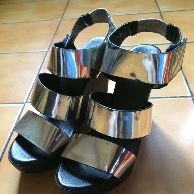 一字雷射楔型鞋