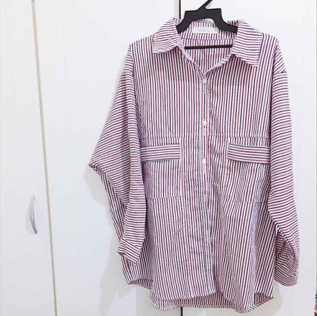 質感超好 直條紋襯衫 超美!降價售