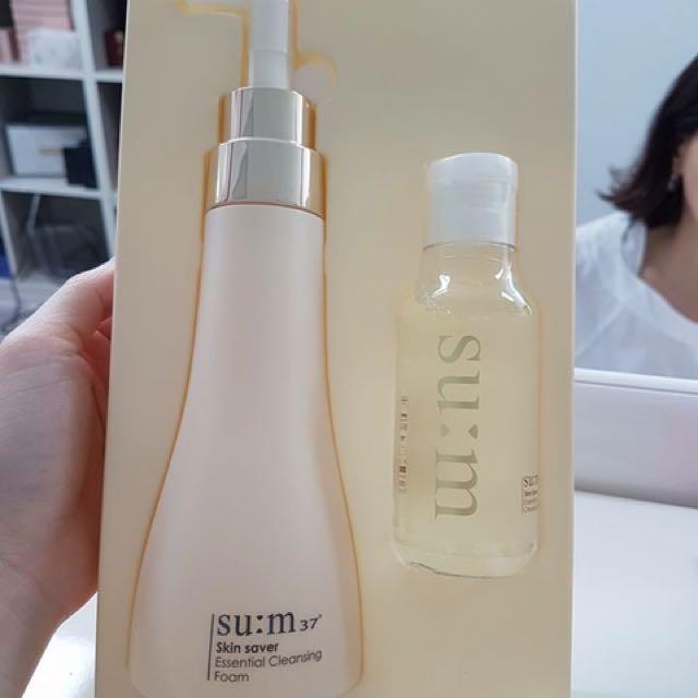 Su:m37, Skin Saver, Essential Cleansing Foam, 245 ml(pack of 3) Candy Land Gumdrop Mountains Lip Balm