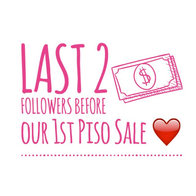 💕 UPCOMING PISO SALE - AUGUST 23